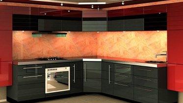 Крашеные фасады МДФ для кухни
